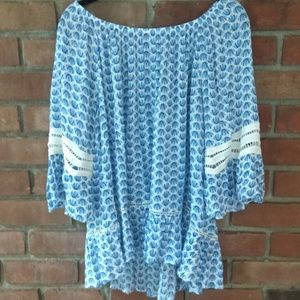 Fever Boho Bell Sleeve Top XL